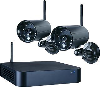 Smartwares 4-kanaals beveiligingssysteem met draadloze recorder en 2 camera's, 1 stuk, zwart, WDVR720S