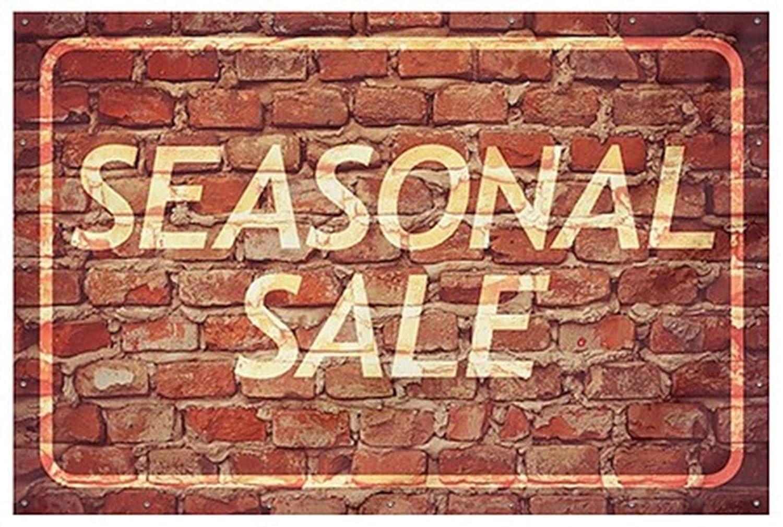 Seasonal Sale Ghost Aged Brick Heavy-Duty Outdoor Vinyl Banner CGSignLab 9x6