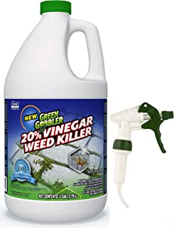 Green Gobbler Vinegar Weed & Grass Killer | Natural and Organic Weed & Grass Killer | Pet Safe | 1 Gallon