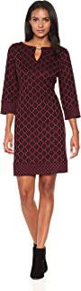Ronni Nicole Women's 3/4 Sleeve Ponte Twin Print Sheath