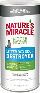 Nature's Miracle Litter Box Odor Destroyer Powder Just For Cats, 567g