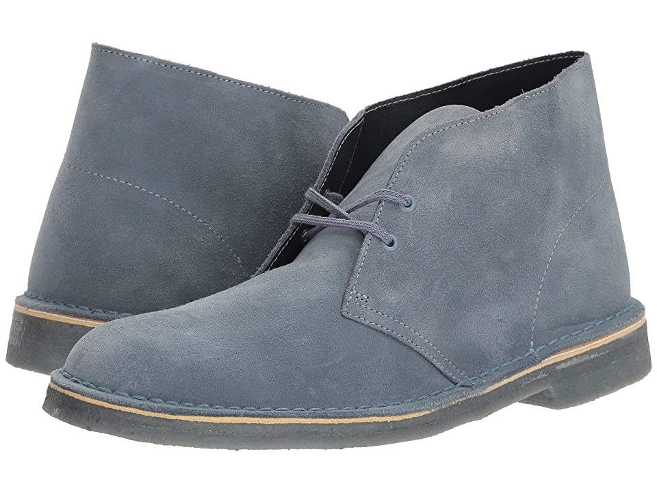 Clarks Desert Boot (Blue/Grey Suede) Men