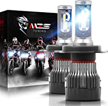 MZS H4 LED Headlight Bulbs Pair for Motorcycle,9003 HB2 Mini Conversion Kit - CREE Chips - 6500K 10000Lm Extremely Bright