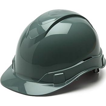 Gray Pyramex Ridgeline Cap Style Hard Hat 4 Point Ratchet Suspension