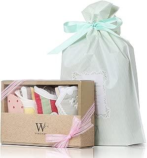 【WORLD PORT】出産祝い 赤ちゃん スタイ よだれかけ 4枚セット 女の子用 ラッピング済み 誕生日 プレゼント ビブ ベビー