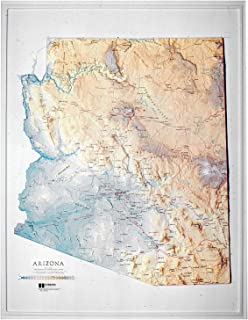 American Educational Arizona State Map without Frame, 27' Length x 21' Width [並行輸入品]