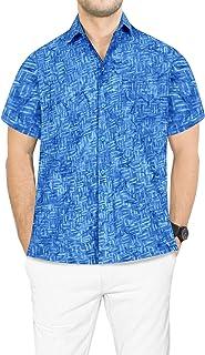 73cdfda1b0b LA LEELA Hawaiano de Vacaciones de Camisa Hawaiana Partido del Macho  Formale de los Hombres Casuales