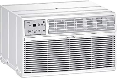 MIDEA MAT10R1ZWT Air Conditioner 3-in-1 Cooling and 3 Fan Speeds,Sleep Mode, LCD Remote Control, Through The Wall AC, 115V, 1