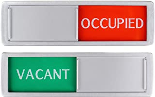 Vacant Occupied Sliding Sign XL - Groen/Rood Tekst Slider - 17,5 x 5 x 0,7 cm - Sterke 3M-stickers.