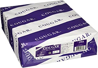 """Cougar/Domtar Opaque White Smooth 100# Cover 8.5""""x11"""" (200 Sheet Per Pack)"""