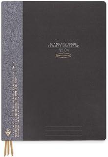 "DesignWorks Ink Standard Issue No. 4 Project Planner Notebook No. 4: 7.5"" x 10"", Black"