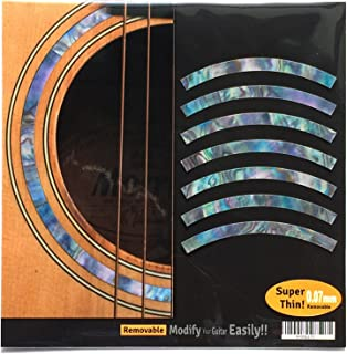 Inlay Sticker Decal Acoustic Guitar Purflinng Sound hole In Abalone Theme - Rosette Strip/Abalone-Mixed