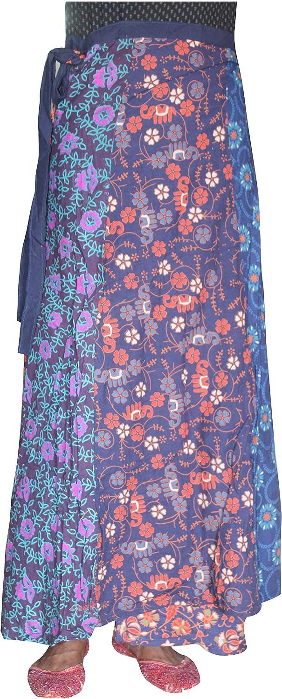 Lakkar Haveli Women's Patchwork Long Skirt Girl's Beach Wear Gypsy Casual Party Wear Boho Multi Color