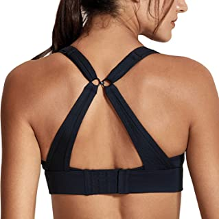 CRZ YOGA Women's High Impact Wirefree Padded Training Bra with Convertible Strap