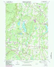 YellowMaps Lake Ariel PA topo map, 1:24000 Scale, 7.5 X 7.5 Minute, Historical, 1966, Updated 1984, 26.9 x 22 in