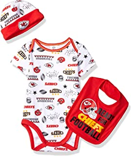 NFL Baby-Boy Bodysuit Cap & Bib Set