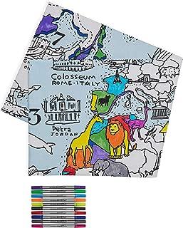 Best doodle world map pillowcase Reviews