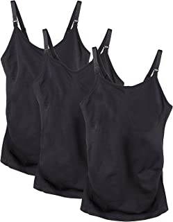 a683cded09 FREE Shipping on eligible orders. Caramel Cantina 3 Pack Women s Nursing  Cami Built in Bra