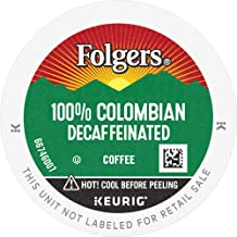 Folgers Decaf 100% Colombian Coffee, Medium-Dark Roast, K Cup Pods for Keurig K Cup..