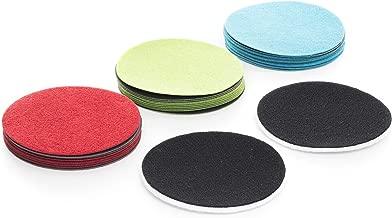 Hegner 6420002 Lot de 5 Disques abrasifs pour bois /ø 300 mm avec fermeture velcro Grain 80 pour HM 300//WUS 300//HM 300S