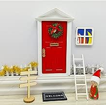 blminiatures Mini Elf Door Opening Red Christmas Festive Fairy Door Set
