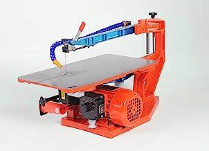 Hegner 1844000 Multicut SE 01844000-Sierra de marquetería eléctrica (400-1400 RPM Paso: 46 cm Altura 65 cm + Pedal), Naranja