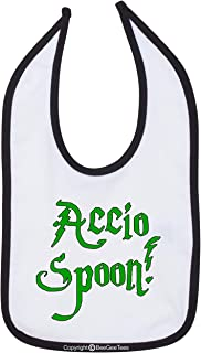 BeeGeeTees Accio Spoon Funny Baby Bib Wizard Infant Toddler Shower Gift Bib