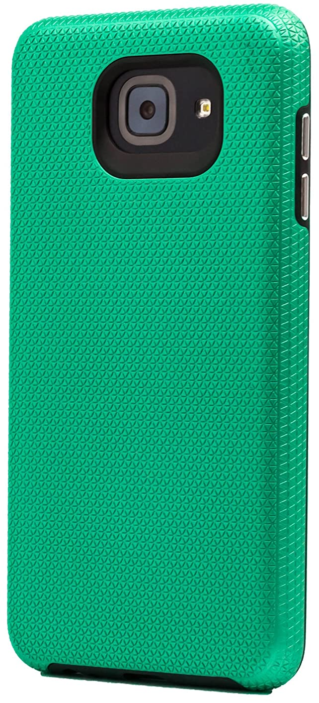 Galaxy J7 Max Case, Maxessory Teal Majestic Full-Body Impact Cover w/Premium Tough Texture Grip Hard-Back Rubber Cushion Hybrid Armor Shell Protector