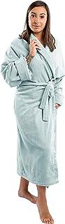 Clarysse Accappatoio per Donna in Spugna di Cotone Organico, Vestaglia di qualità Superiore in finissimo Velluto con Collo...