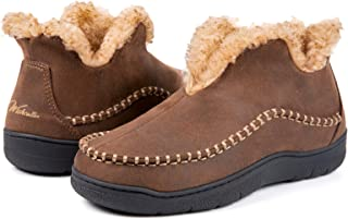Wishcotton Zapatillas de microgamuza para Hombre, con Forro Polar cálido, de Espuma viscoelástica, para Interiores y Exter...