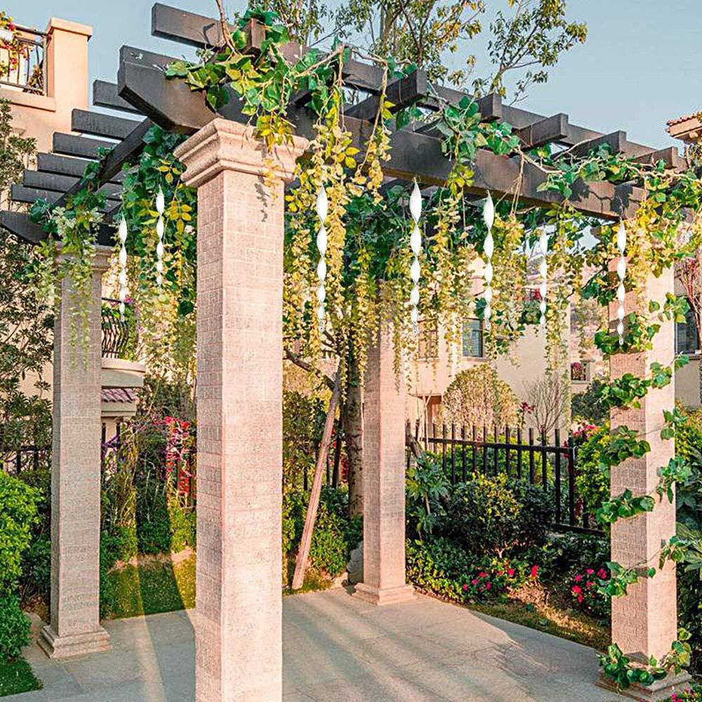 FlowersSea Varillas repelentes de pájaros, 12 Unidades, Reflectantes, para jardín, pájaro, espantapájaros, espantapájaros, espantapájaros, 12 Pulgadas: Amazon.es: Jardín