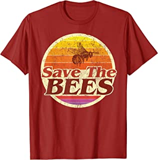 Save The Bees Tshirt Women Men Vintage Retro Distressed Gift