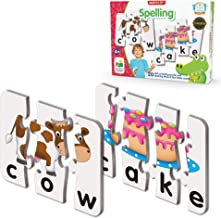 The Learning Journey: Match It! - Spelling - 20 Piece Self-Correcting Spelling Puzzle for Three and Four Letter Words with...