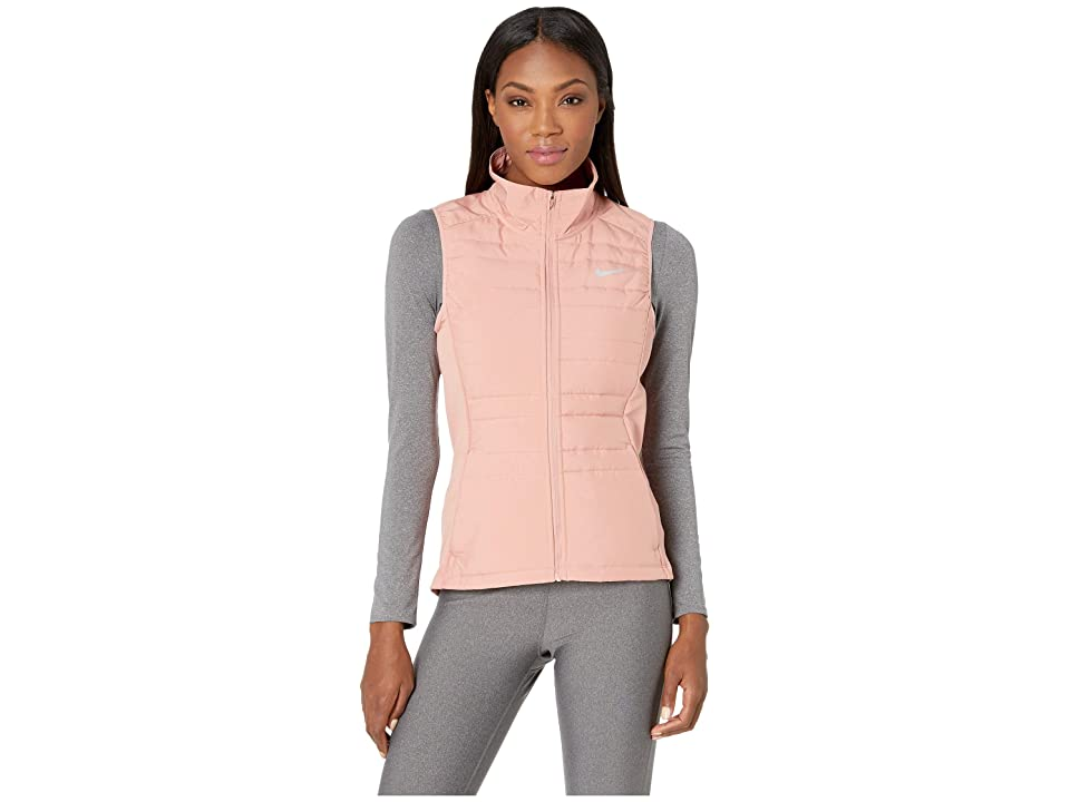 Nike Essential Vest Filled (Rust Pink/Rust Pink/Metallic Silver) Women