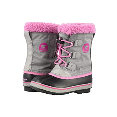 SOREL Kids Yoot Pac Nylon (Little Kid/Big Kid) (Chrome Grey/Orchid) Girls Shoes