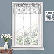 VUE ستائر نافذة قصيرة قصيرة ذات مشابك متشابكة للحمام وغرفة المعيشة والمطابخ، 132.08 سم × 35.56 سم، رمادي