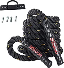 DAWOO Battle Ropes, trainingstouw, slachttouw, trainingstouw Fitness (38 mm x 9 m / 12 m / 15 m)