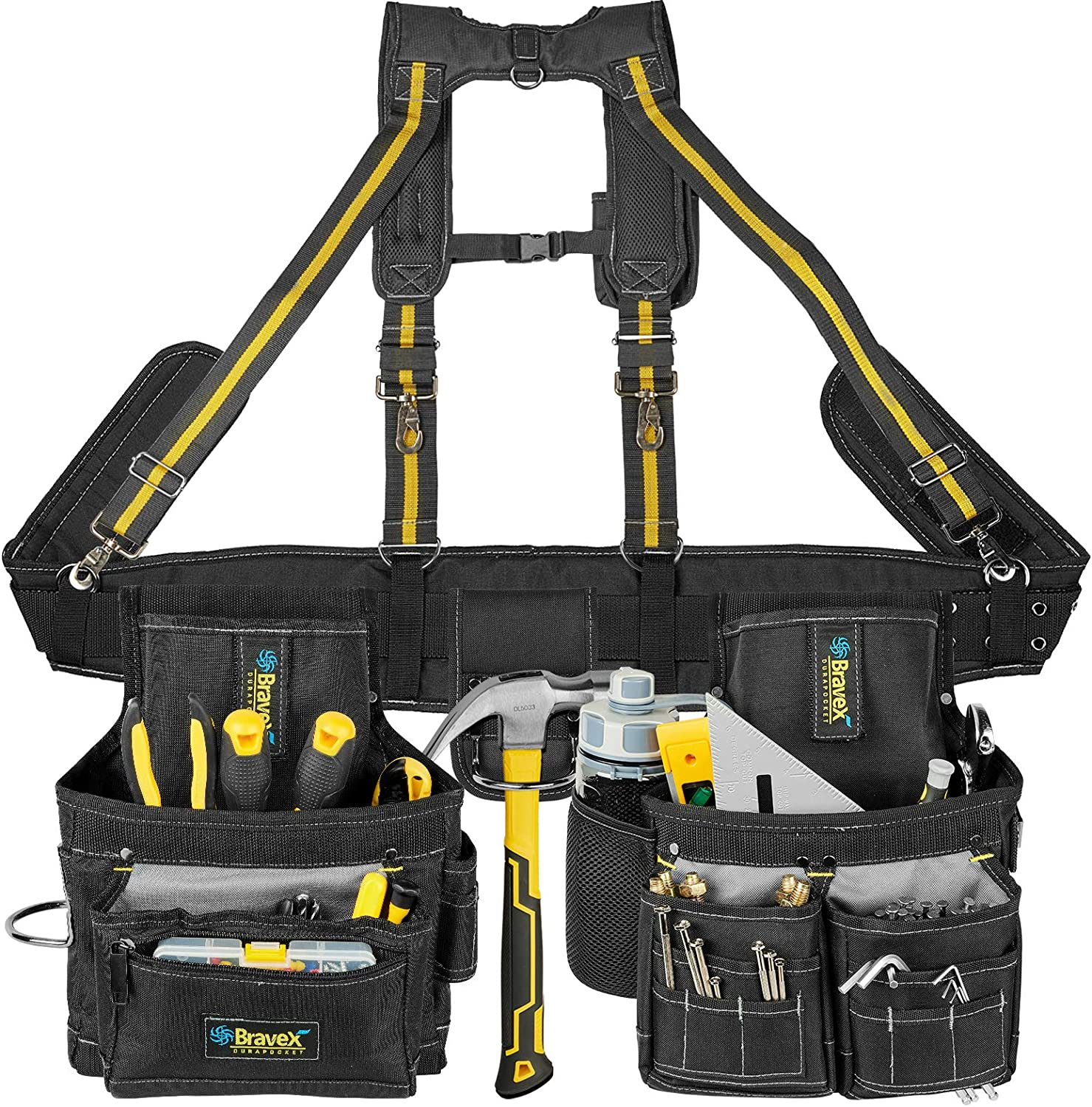 Bravex Tool Belt Suspenders Beauty products - Ultra Bags Anti-wear excellence 20 Vest