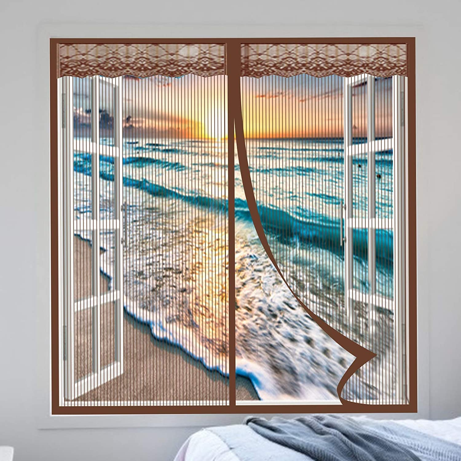 HAODELE New sales Magnetic Screen Door 85x100cm Scr Recommendation Window Magnets Closing