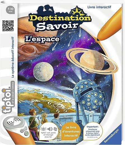 Ravensburger - Livre d'aventure interactif tiptoi - Destination savoir L'espace - Jeux électroniques éducatifs sans é...