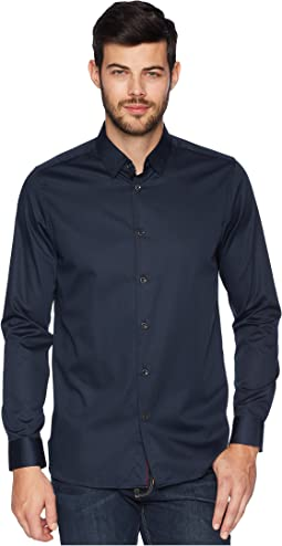 Ted Baker Bylly Long Sleeve Satin Stretch Shirt