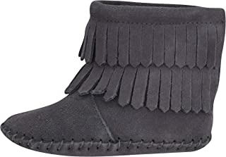 Unique Baby Baby-Girls Suede Double Fringe Baby Booties