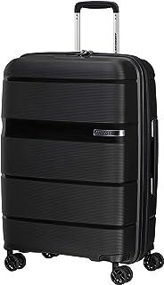 American Tourister Linex - Spinner M, Valise, 66 cm, 63 L, Noir (Vivid Black)