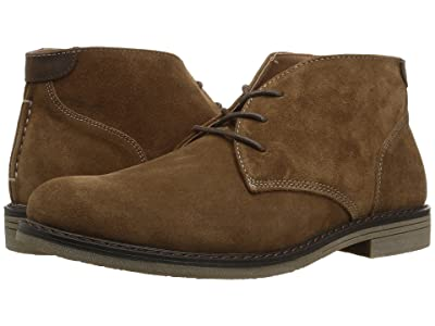 Nunn Bush Lancaster Plain Toe Chukka Boot (Camel Suede) Men