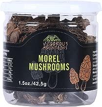 VIGOROUS MOUNTAINS Dried Morel Mushrooms 1.5 Ounce Wild Morchella 2-3cm