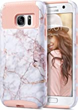 ULAK S7 Case, Galaxy S7 Case, Hybrid Case for Samsung Galaxy S7 2016 Release 2-Piece Dual Layer Style Hard Cover (Cracked Marble) Will not Fit S7 Edge