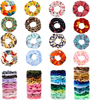 66 Pcs ZZICEN Hair Scrunchies Velvet Silk Chiffron Flower Hair Scrunchies for Women or Girls Hair Accessories |30Velvet Hair Scrunchies+20Satin Hair Scrunchies+16 Chiffron Flower Scrunchies