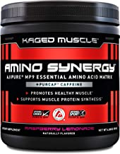 Kaged Muscle Amino Synergy - Vegan BCAA + EAA Powder, Premium Vegan Branched Chain Amino Acid and Essential Amino Acid Supplement with Coconut Water, Raspberry Lemonade, 30 Servings