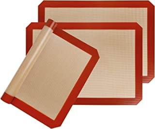 STATINT Silicone Baking Mat Non-Stick, Set of 3 Half Sheet Heat Resistant Liner | Cookies, Meats, Vegetables, Pastries | R...
