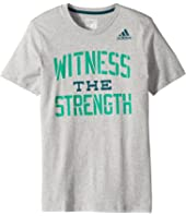 adidas Kids - Witness the Strength Tee (Big Kids)
